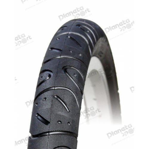 Покрышка 16x2.125 (57-305) Deli Tire S-615 Red/blue line с этикеткой черная