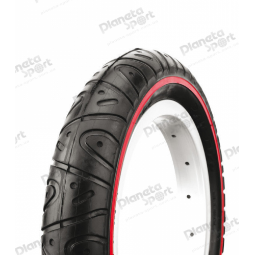 Покрышка 12 1/2x2x2 1/4 (51-203) Deli Tire SA-227 Blue/red line с этикеткой