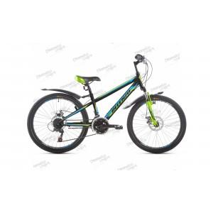 """Велосипед 24"""" Intenzo Energy Disk черно/синий/зелёный 2019"""