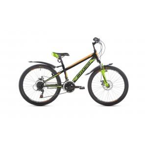 """Велосипед 24"""" Intenzo Energy Disk черно/оранжевый/зелёный 2019"""