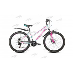 "Велосипед 26"" Intenzo Delta Disk бело/розовый 2019"