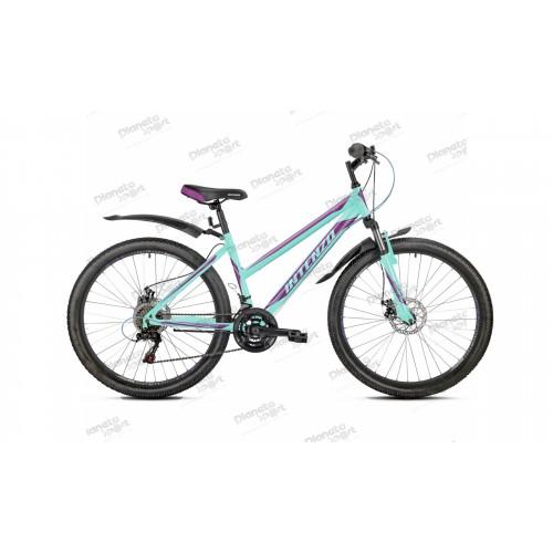 """Велосипед 26"""" Intenzo Delta Disk мятный 2019"""
