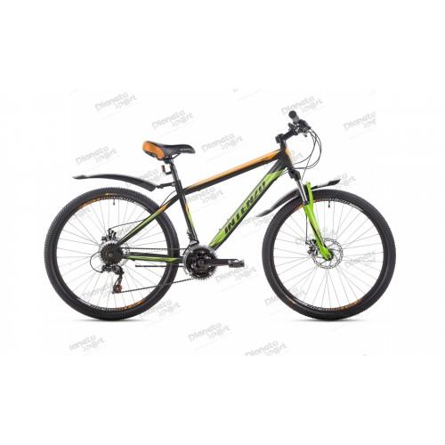 """Велосипед 26"""" Intenzo Forsage черно/оранжевый/зелёный 2019"""