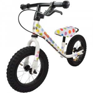 "Беговел 12"" Kiddimoto Super Junior MAX SUPER DOTTY металлический 2019"