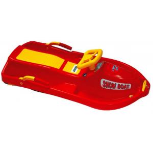 Санки с рулем Plastkon Snow boat красные
