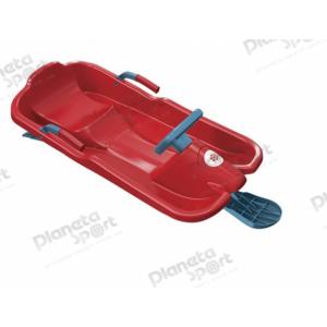 Санки с рулём Plastkon Skibob красные