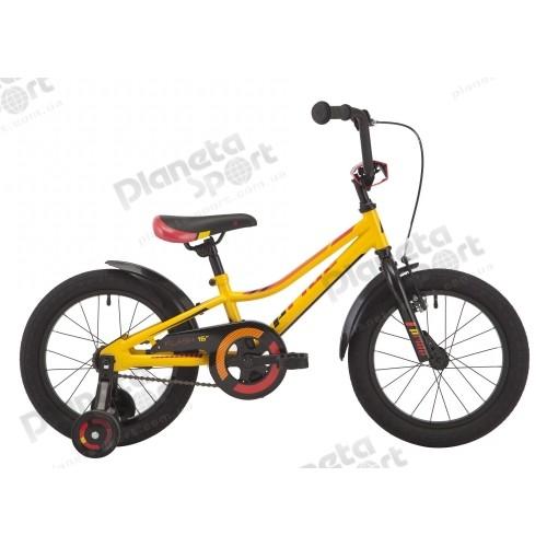 """Велосипед 16"""" Pride Flash желтый/красный/черный 2018"""
