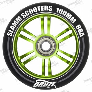 Колесо Slamm Orbit green 100 мм