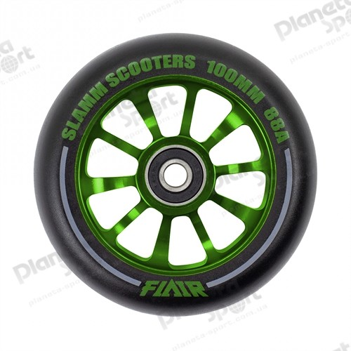 Колесо Slamm Flair 2.0 Wheels green 100 мм