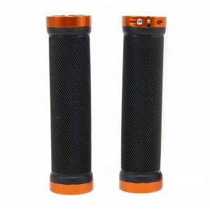 Грипсы Spelli SBG-6703 черные с оранжевыми замками