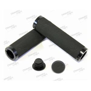 Грипсы Spelli SBG-672 Lock черные с черными замками