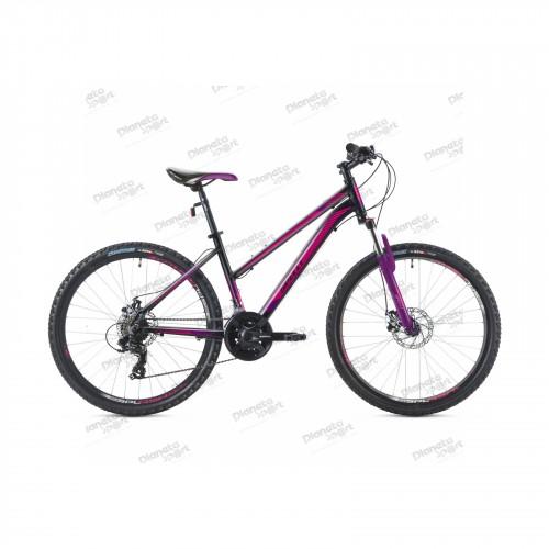 """Велосипед 26"""" Spelli SX-2000 Lady чёрно-фиолетовый 2019"""
