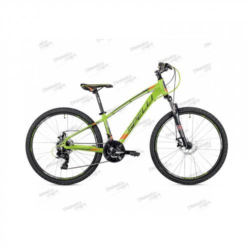 """Велосипед 26"""" Spelli SX-2700 зелёно-оранжевый с черным 2019"""