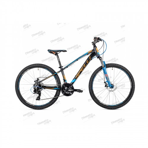 "Велосипед 26"" Spelli SX-2700 чёрно-оранжевый с синим 2019"