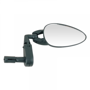 Зеркало Spelli SBM-4063 с креплением в торец руля, треугольное черное