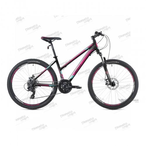 """Велосипед 26"""" Spelli SX-3000 Lady чёрно-розовый с мятным 2019"""